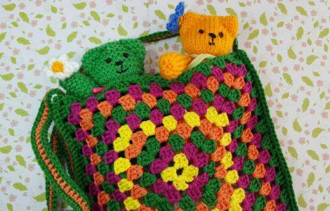 Granny Square Tasje Haken Gratis Patroon Knit Kids
