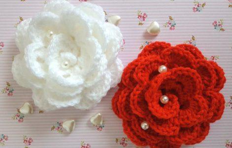 Roos Haken Gratis Haakpatroon Op Knitkidsnl Leuk Voor Moederdag