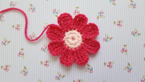 Eenvoudige Roze Bloem Haken Gratis Patroon Van Knitkids
